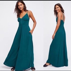 NWT Large Greenpoint Girl Jumpsuit Emerald Combo